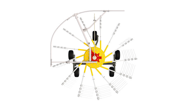 Rake without MULTITAST wheel
